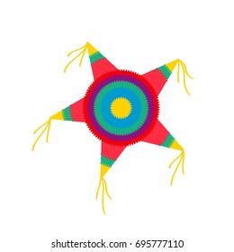 Pinata star shape. Clipart image isolated on white background