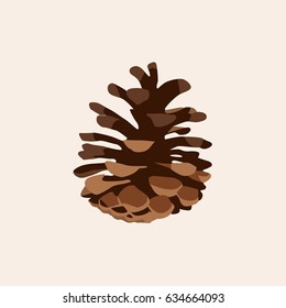 Pine cone icon vector illustration