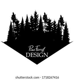 PINE FOREST LOGO VECTOR DESIGN TEMPLATE