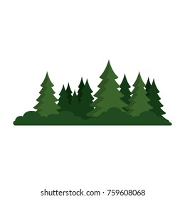 pine forest scene icon