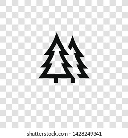 pine icon from miscellaneous collection for mobile concept and web apps icon. Transparent outline, thin line pine icon for website design and mobile, app development