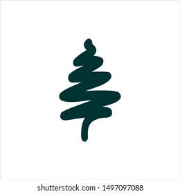 Pine Logo. Cedar Symbol. Tree Icon Vector Eps 10.