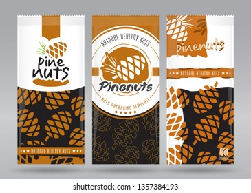 Pine nuts packaging set