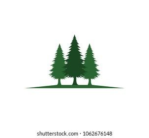 pine tree hotel resort woods park vector logo design template