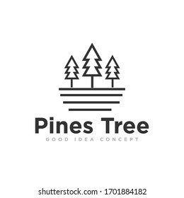Pine Tree Logo Design Vector