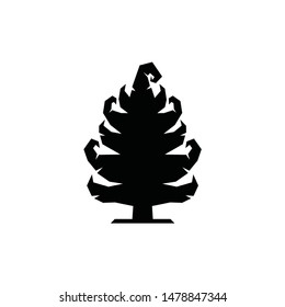 Pine tree logo vector icon with unique magic supernatural for family kid adult mature mountainer outdoor adventure