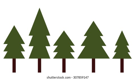 Pine Tree Set Vector