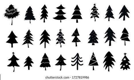 Christmas Tree Silhouette Images Stock Photos Vectors Shutterstock Download christmas tree silhouette vectors vector art. https www shutterstock com image vector pine trees fir spruce set hand 1727819986