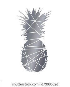 Pineapple black and white abstract. Pineapple vector design for print