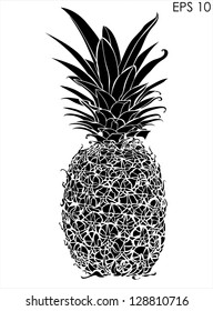 Pineapple black and white design