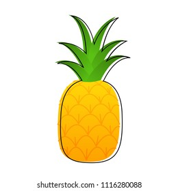 Pineapple cartoon vector illustration