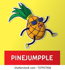 Pineapple. Cartoon vector illustration