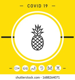 Pineapple icon, elements for your design