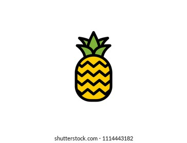 Pineapple icon, filled line icon