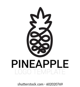 pineapple icon isolated - modern flat pictogram - trendy simple vector symbol logo illustration