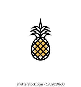 pineapple icon modern style vector illustration. isolated on white background