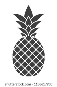 Pineapple icon on white background. Vector illustration