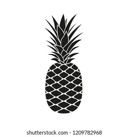 Pineapple icon. Summer and Tropical fruit logo. Vector illustration.