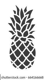 Pineapple Icon. Trendy Tropical Element. Vector Graphics. Isolated.