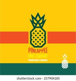 Pineapple icon. Pineapple vector label.