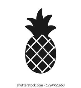 pineapple icon vector. Linear style sign for mobile concept and web design. pineapple symbol illustration. Pixel vector graphics - Vector.