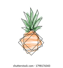 pineapple image in abstract style