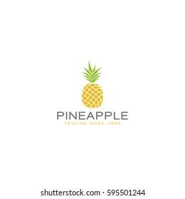 pineapple  logo icon vector template