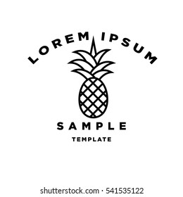 Pineapple Minimal Sign Vector Design