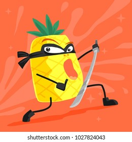 pineapple ninja cartoon