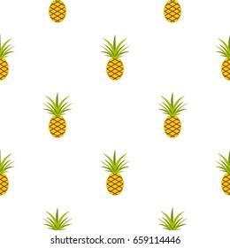 Pineapple pattern seamless for any design vector illustration