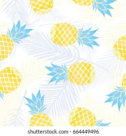 pineapple pattern, vector, illustration