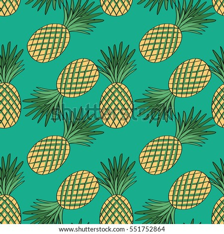 Summer Cute Pattern Of Ananases Sweetheart Vector Il Ration For The Backpack Carrying Case Bags Wrapping Paper Background For The Site Wallpaper