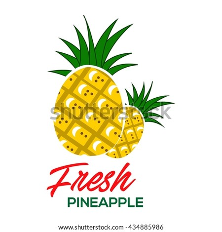 pineapple poster template stock vector royalty free 434885986