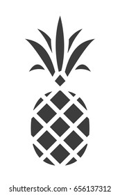 Pineapple silhouette Icon. Trendy Tropical Element. Vector Graphics. Isolated.