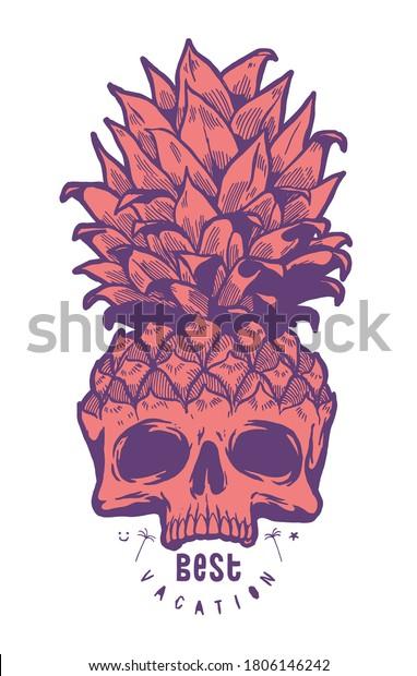 pineapple-skull-best-vacation-typography