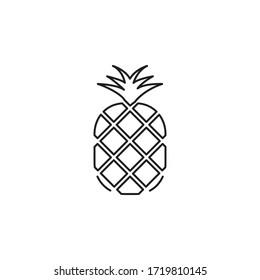 pineapple stroke vector illustration. pineapple icons.