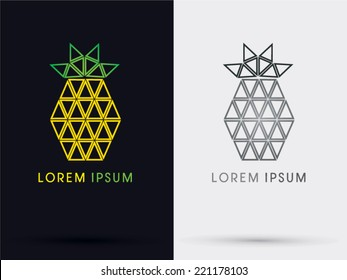 Pineapple triangle abstract logo, symbol, icon, graphic, vector.