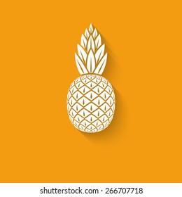 pineapple tropical fruit symbol - vector illustration. eps 10