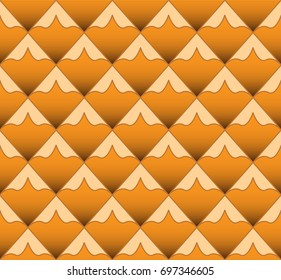 Pineapple vector background. Seamless pattern.