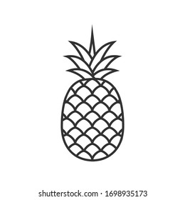 Pineapple vector illustration isolated on white