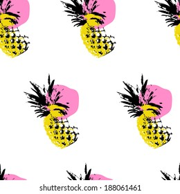 pineapple vector pattern
