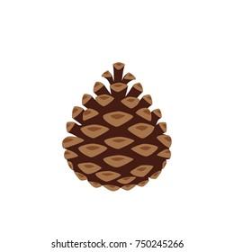 Pinecone icon, vector illustration design. Christmas collection.