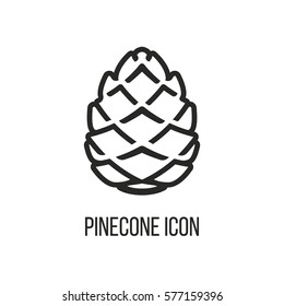 Pinecone Line Icon Vector
