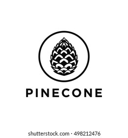 Pinecone logo vector