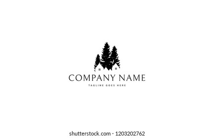 Pines Home vector logo image
