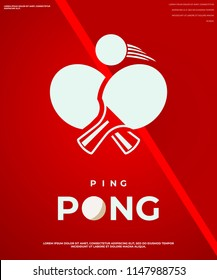 Ping pong club logotypes. Vector illustration EPS10