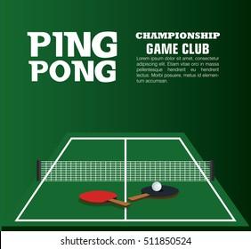 ping pong equipment sport