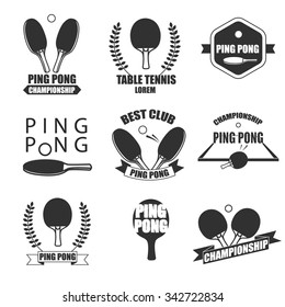 Ping Pong logotype. Ping pong icon. Vector table tennis logo or symbol.