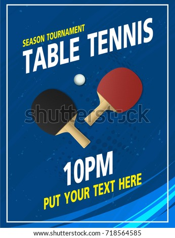 ping pong tournament two rackets on stock vector 443114485.html