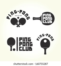 Ping-pong club isolated vector logotypes